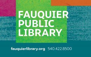Fauquier Public Library card