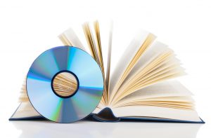 Open book and CD